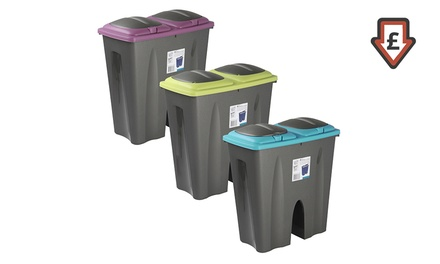 One, Two or Three Double Recycling Waste Bins