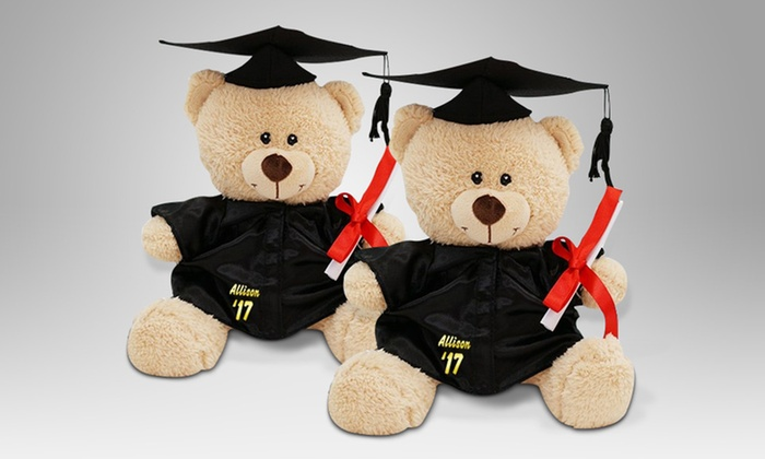 ... Personalized Graduation Cap And Gown Teddy Bear