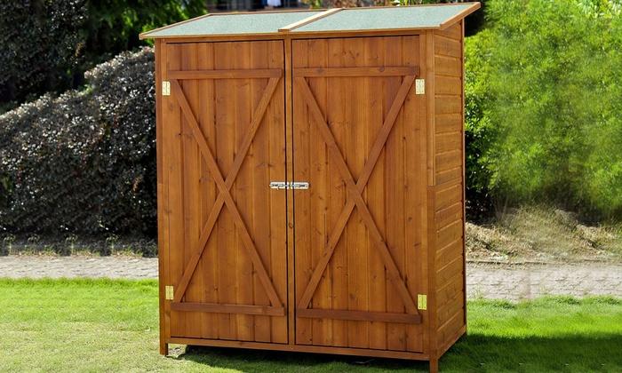 Wooden Double Door Garden Shed Groupon Goods