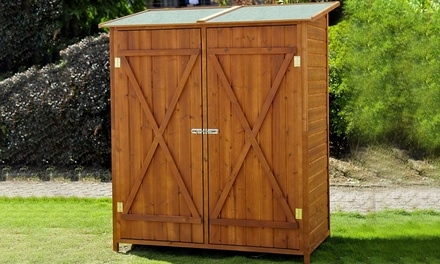 Wooden Double Door Storage Shed for £149.99 With Free Delivery