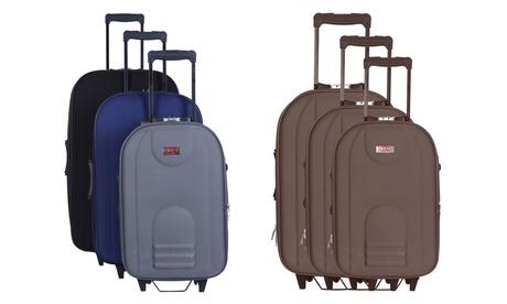 Set de 3 maletas en poliéster, modelo Jura