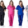 Women's Scrub Uniform Top and Bottom Set (2-Piece)