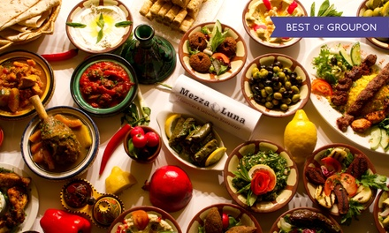Lebanese Dining Experience with Wine for Two or Four at Mezza Luna