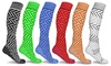 DCF Zig Zag Unisex Knee-High Compression Socks (6-Pairs)