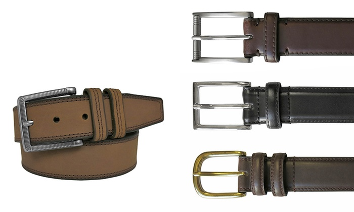 Van Heusen Men's Genuine Leather Belt