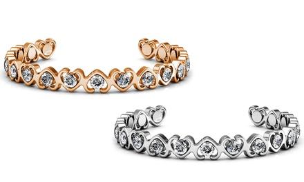 Armband mit Swarovski®-Kristallen in Silber oder Roségold (Koln)