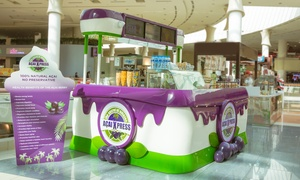 Acai Xpress Yas Mall: Medium or Large Açai Berry Cup with Syrrup, Toppings and Fruit at Al Wahda Mall & Yas Mall (Up to 33% Off)
