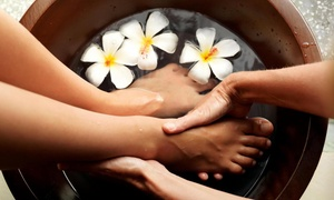 Flora De Nails & Spa: $49 for a 60-Minute Reflexology Session, Pedicure, and Aromatherapy at Flora De Nails & Spa ($92 Value)
