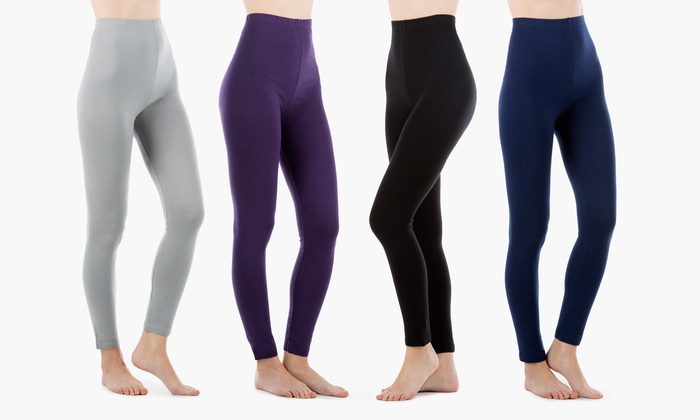 Sociology High-Waist Stretchy Leggings (4-Pack) | Groupon Exclusive