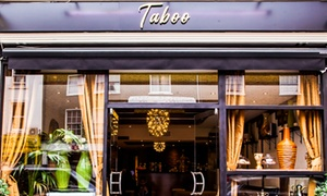 Caffe Taboo: Middle Eastern Afternoon Tea for Two or Four at Caffe Taboo (Up to 28% Off)