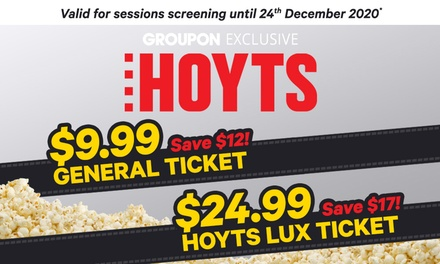 Cinema Tickets: General Admission ($9.99) or LUX Ticket ($24.99) at HOYTS, 40 Locations (Up to $42 Value)