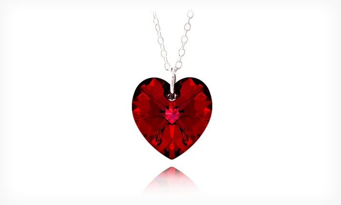 Heart Necklace with Swarovski Elements: $5.99 for a Heart Necklace with Swarovski Elements ($75 List Price). Free Returns.
