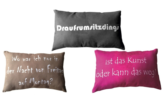 kissen mit spr chen groupon goods. Black Bedroom Furniture Sets. Home Design Ideas