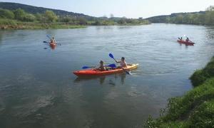 San Kajaki: Spływ kajakowy dla 2 (49,99 zł) lub 4 osób (89,99 zł) z firmą San Kajaki