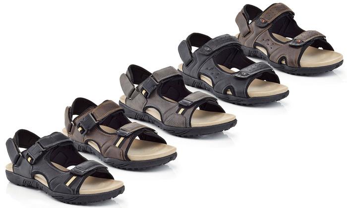 Marco Vitale Mens Velcro Sandals