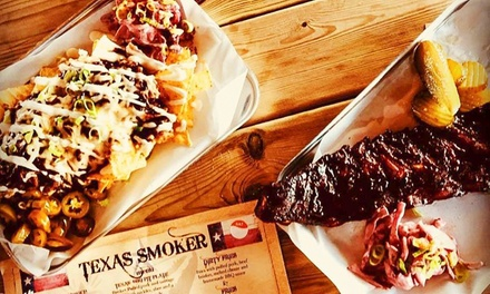 American Meal with Side for Two or Four at Texas Smoker