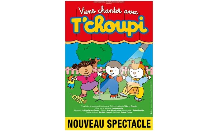 """Contremarque - RADIANT - BELLEVUE: 1 place pour adulte ou enfant en catégorie 1 pour """"T'Choupi"""", dates au choix à 18 € au Radiant - Bellevue à Lyon"""