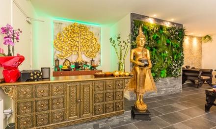 Modelage traditionnel, aux huiles aromatiques/chaudes d'1h avec option hammam pour 2 pers. dès 59,90 € au Spa Thai Luxe