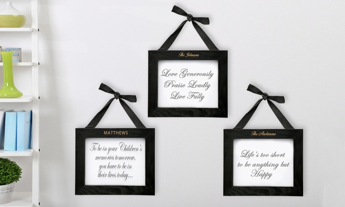 Personalized, Framed Inspirational Wall Art from Monogram Online ...