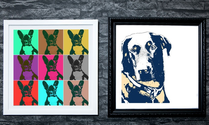 One 10 X10 Or 15 X15 Custom Upload Your Pets Framed Canvas Print From Mezoo Up To 90 Off