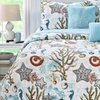 Solid-Back Printed Quilt Set (5-Piece)