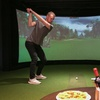 Golf Simulator with Tea or Coffee