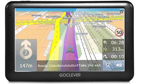 Sistema de navegación GoCleverNavio 2540 con mapa del mundo