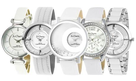 Relojes So Charm Parisdecorados con un diamante o/y cristales Swarovski® Oferta en Groupon