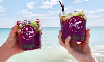 Snack-Size Acai Bowl ($8), or Regular-Size Acai Bowl ($10.90) & Coffee ($12.90) at Ohana Acai Bar (Up to $19.99 Value)