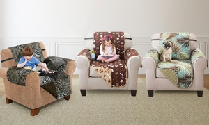 Printed Reversible Furniture Protector for Sofa, Loveseat, or Chair
