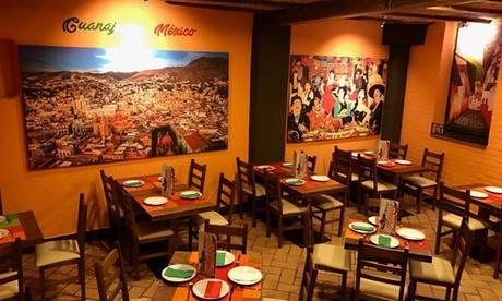 Menú mexicano para 2 o 4 con entrante, principal, postre y bebida desde 24,95 € en Mero México