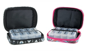 Women's Zippered Pill and Vitamin Case