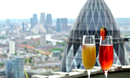 image for Panoramic Views, Champagne Cocktails and Sharing Platter for Two or Four at Vertigo 42 (Up to 47% Off)