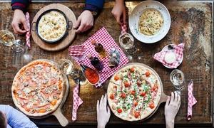 Les Jardins de Toscane: Aperitief van het huis, pasta of pizza voor 2, 4, 6 of 8 personen vanaf € 14,99