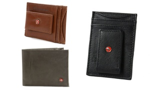 Alpine Swiss Men's Genuine-Leather Wallet, Money Clip, or Card Case