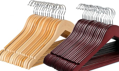 Solid Wooden Clothes Hanger (20- or 60-Pack) 3967365c-6673-11e7-a8b9-00259069d7cc