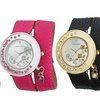Laura Ashley Ladies' Stone-Accent Colored Wrap Watch