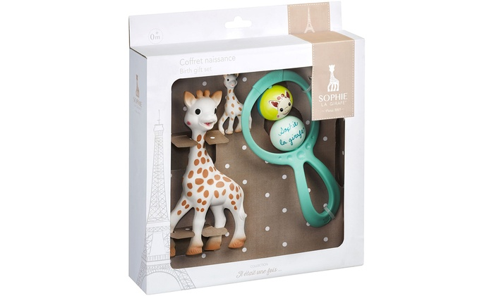 One or Two Sophie La Giraffe Newborn Gift Boxes