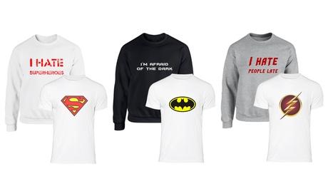 Set de sudadera y camiseta con estampado superhéroes