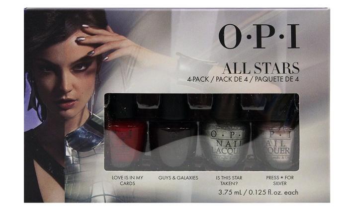 OPI Mini All Stars Nail Lacquer (4-Pack) | Groupon