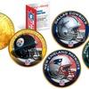 NFL Team Helmet Logo 24K Gold Plated 1976 IKE US Dollar Coin