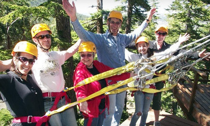 Zip Yosemite - Oakhurst: Zipline Course for Two Monday–Thursday or Friday–Sunday from Zip Yosemite (Up to 62% Off)
