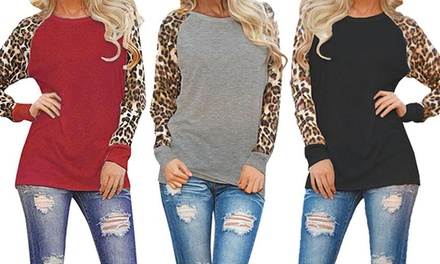 One or Two Animal Print Sleeve Tops