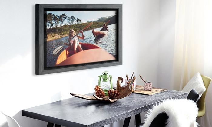toile avec cadre flottant groupon. Black Bedroom Furniture Sets. Home Design Ideas
