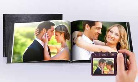 1, 2, 3, 4 o 5 Foto-Álbumes especial bodas con tapa de cuero con Printerpix (hasta 56% de descuento)