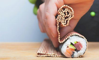 image for Sushi Making Class for One or Two People at CocuSocial (Up to 27% Off)