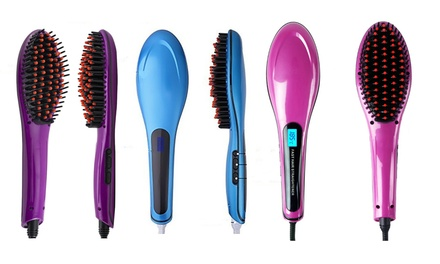 One or Two Electric Hair Straightening Brushes from AED 69 (Up to 64% Off)