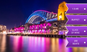 Sydney Glass Island: From $39 for 1-Hour-and-45-Minute Vivid Cruise with Standing Buffet and Wine on the Sydney Glass Island (From $85 Value)