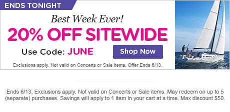 Best Week Ever! 20% Off Sitewide!