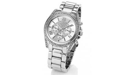 Montres ornées de cristaux Swarovski® de la marque Louise Pearl, collection Bourgeoise
